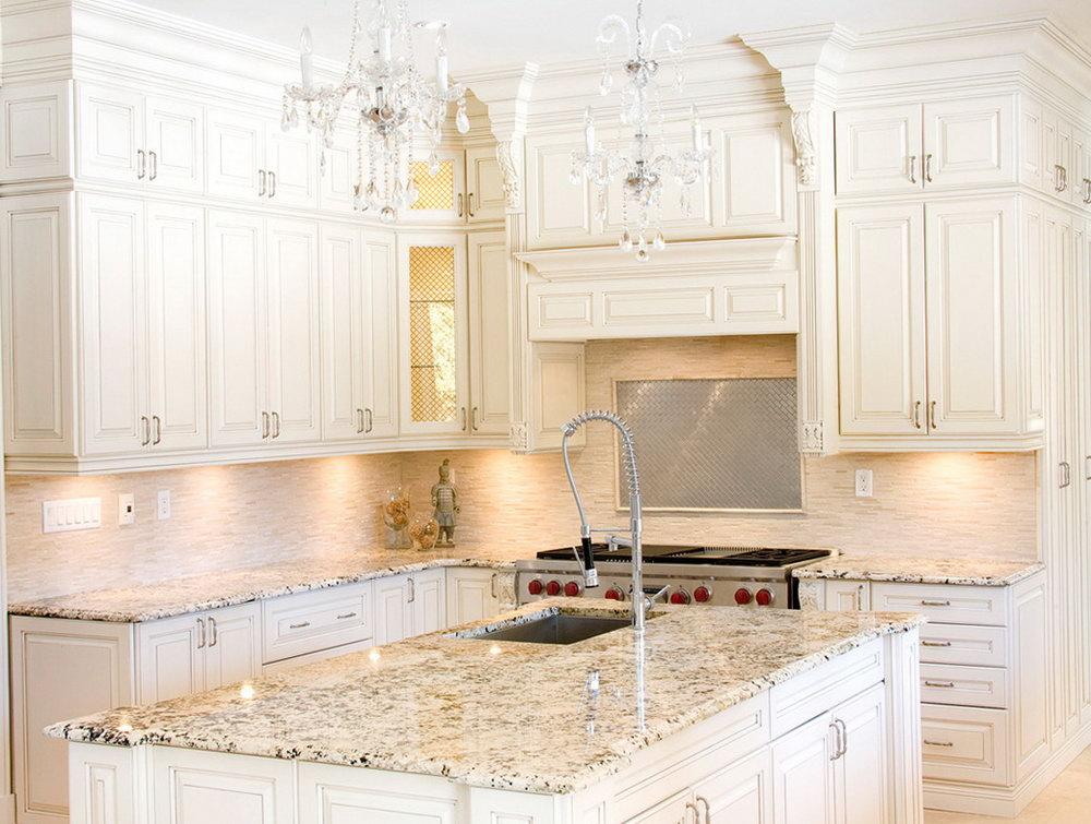 White Slab Kitchen Cabinets