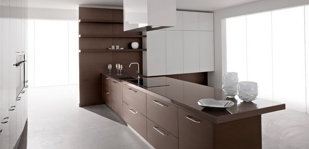 White Washed Wood Kitchen Cabinets