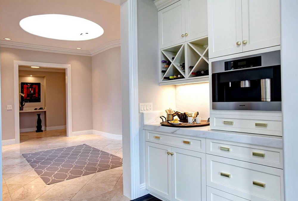 Wine Decor Above Kitchen Cabinets