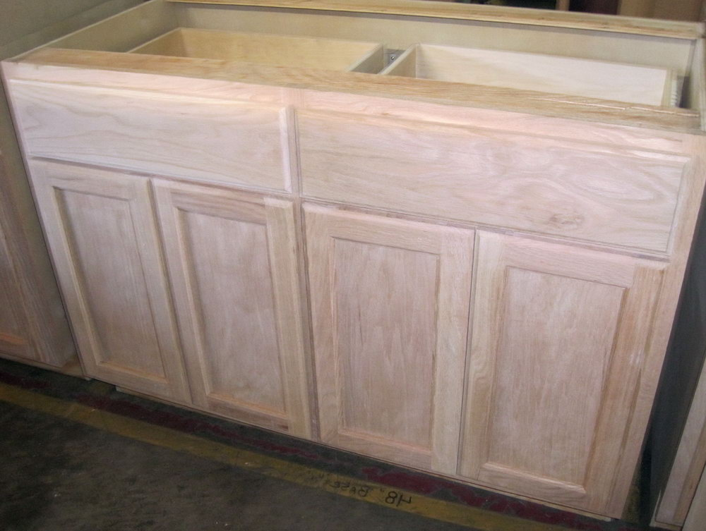 9 Kitchen Base Cabinet In Unfinished Oak