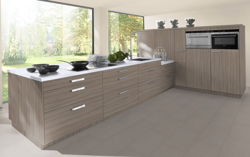 Angled Base Kitchen Cabinet