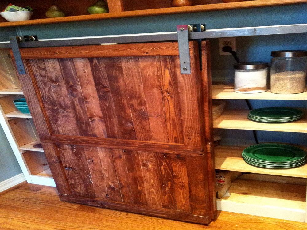 Barn Door Kitchen Cabinets