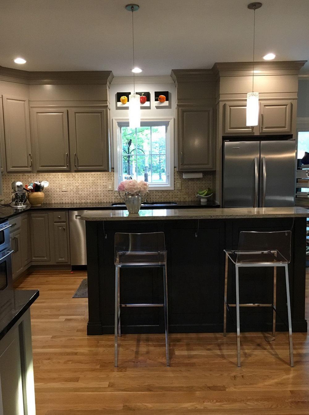 Benjamin Moore Baltic Gray Kitchen Cabinets