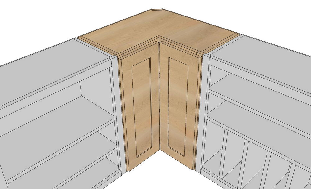 Corner Cabinet Doors Kitchen