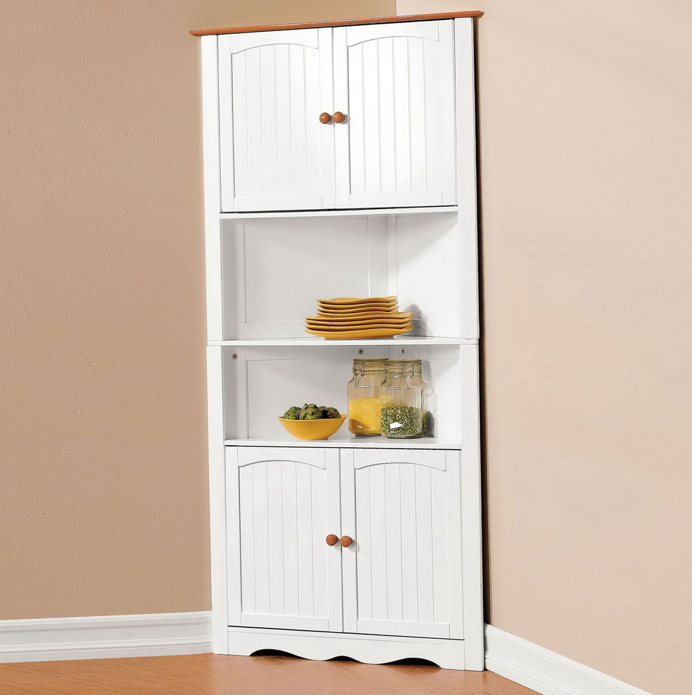 Corner Kitchen Storage Cabinet Freestanding