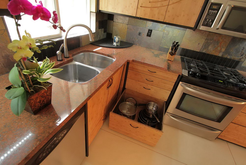 Corner Sink Base Kitchen Cabinet