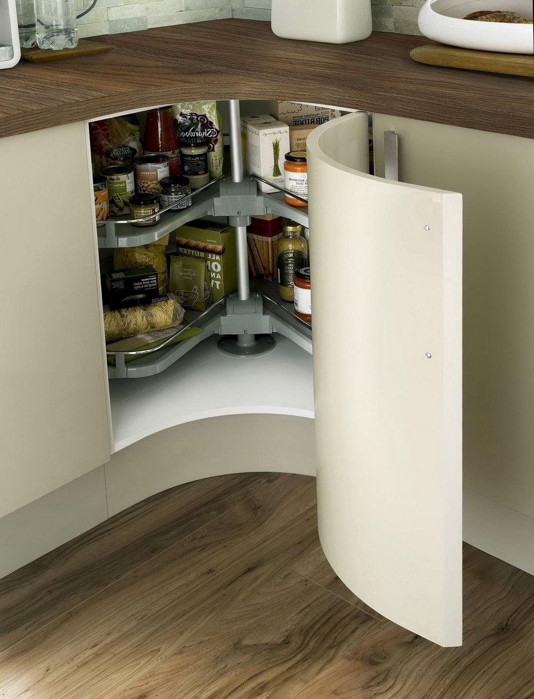 Curved Corner Kitchen Cabinets
