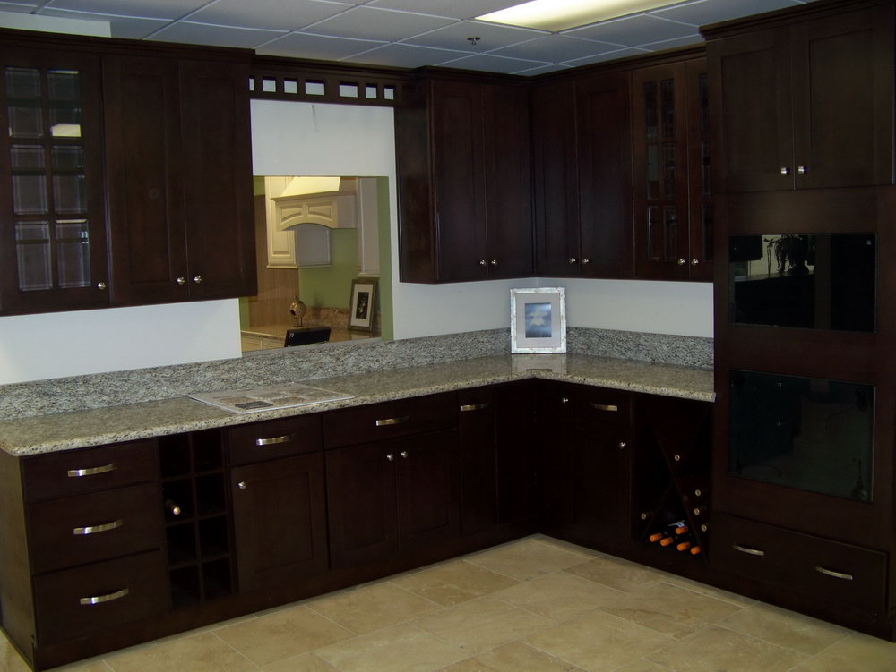 Dark Brown Cabinet Kitchen