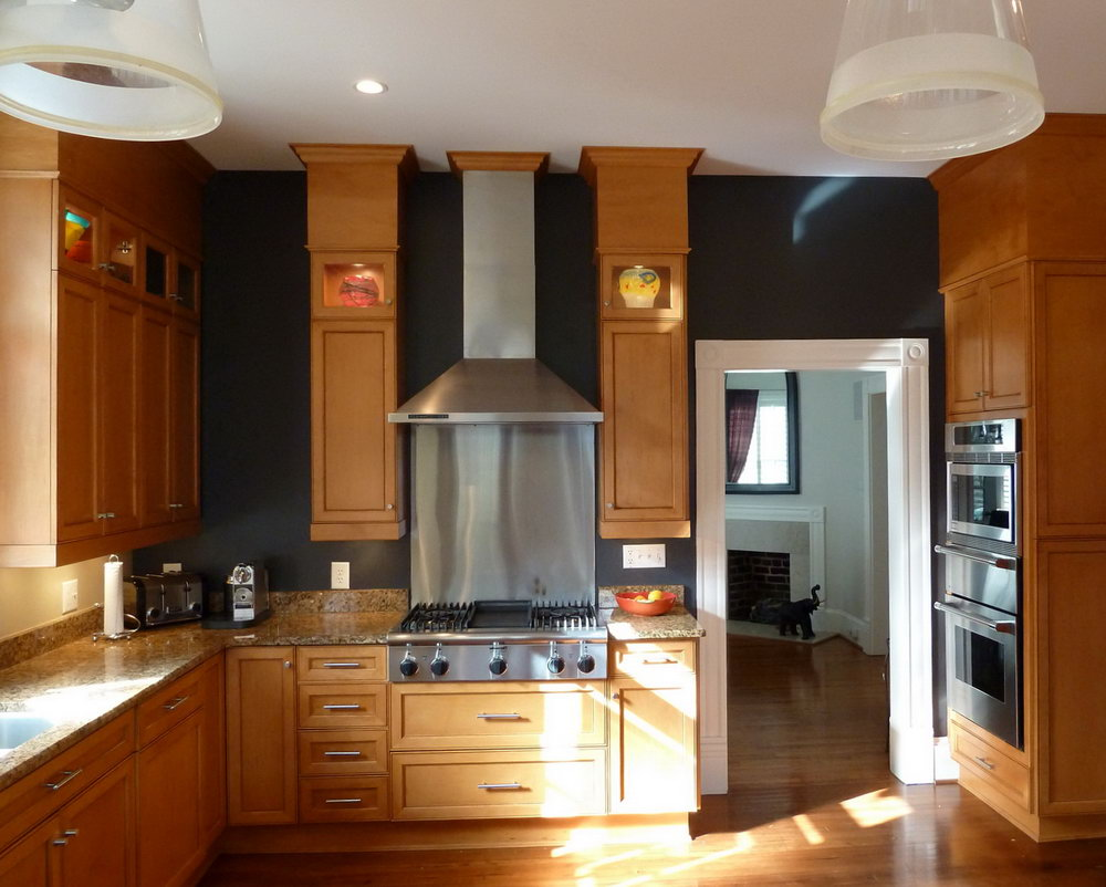 Dark Kitchen Cabinets Wall Color