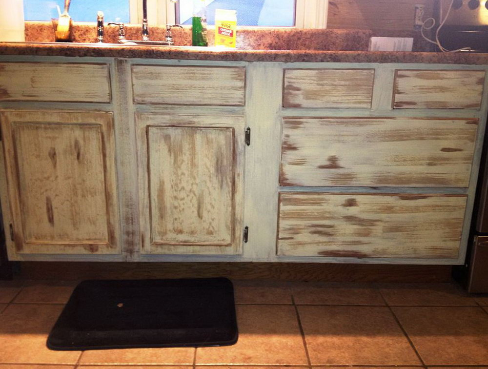Distressed Wood Kitchen Cabinets For Sale