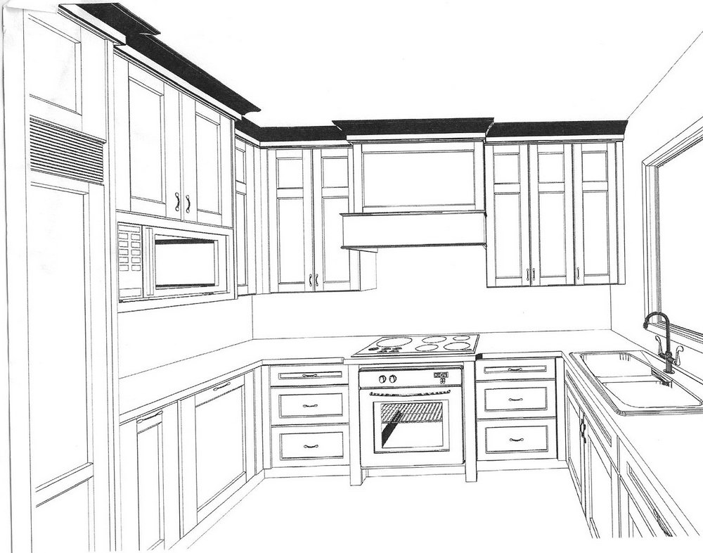 Drawing Kitchen Cabinets In Sketchup