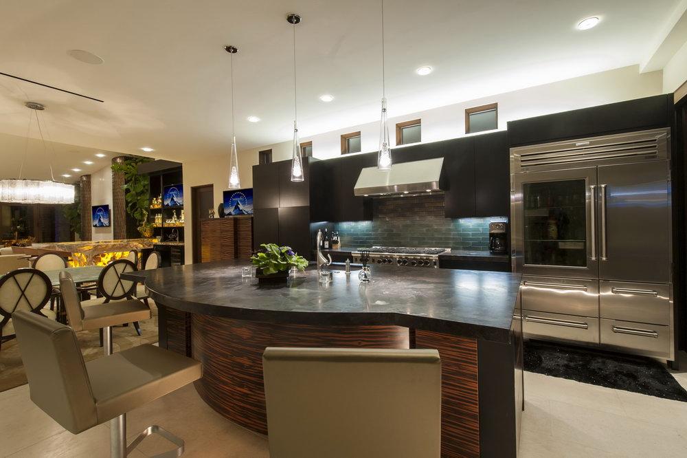 Ebony Colored Kitchen Cabinets