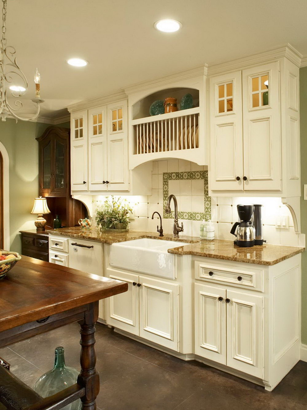 French Linen Kitchen Cabinets