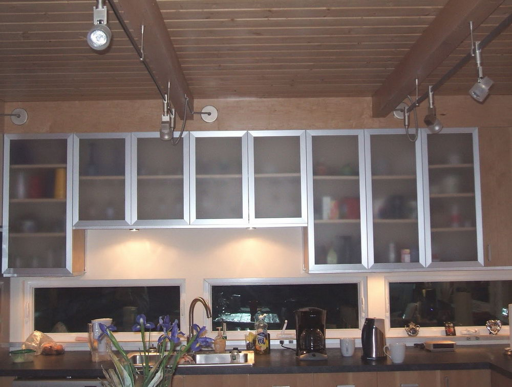 Frosted Glass Cabinets Kitchen