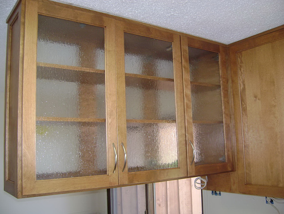 Glass Upper Cabinets In Kitchen