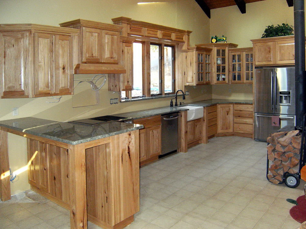 Hampton Natural Hickory Kitchen Cabinets