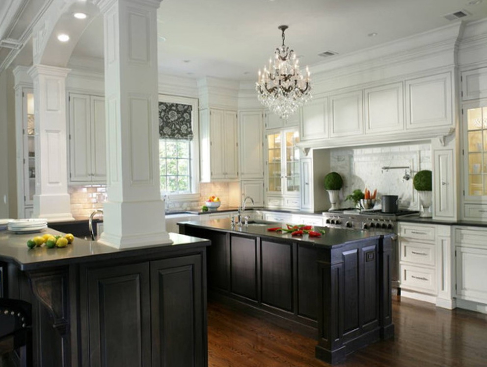 Houzz White Kitchen Cabinets Black Countertops
