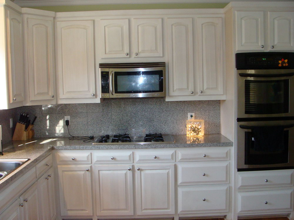 How To Paint Stained Kitchen Cabinets White
