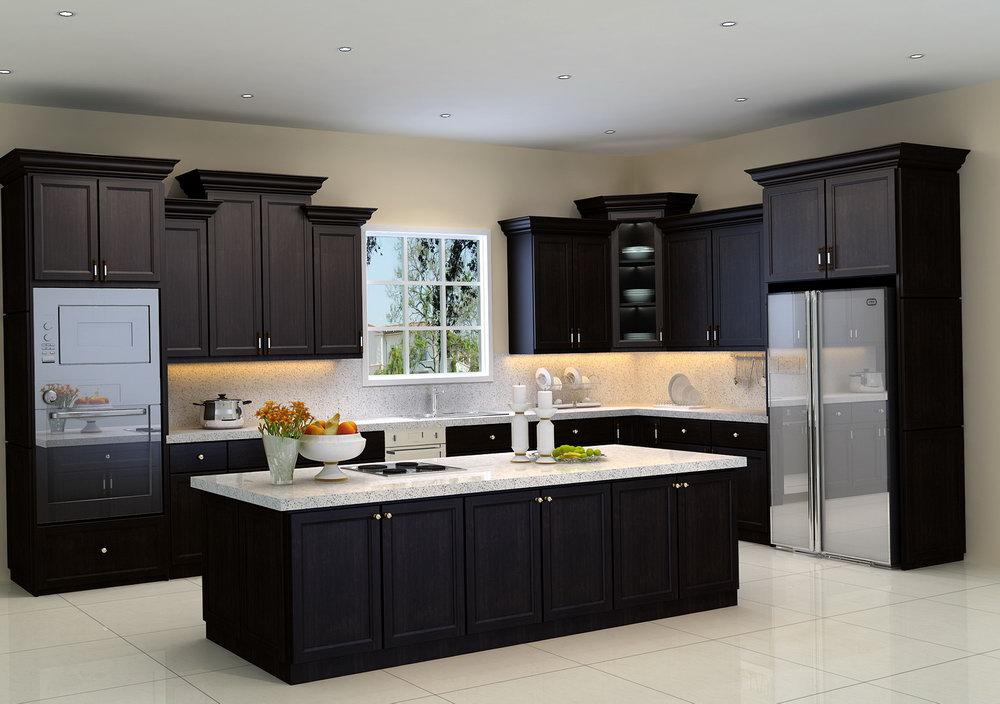 Kent Espresso Kitchen Cabinets