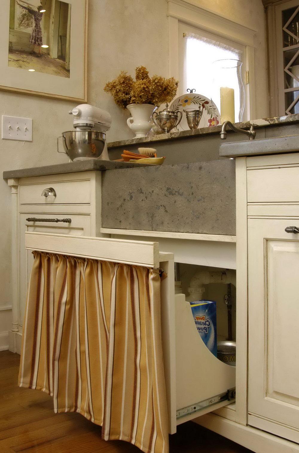 Kitchen Cabinet Curtains Diy