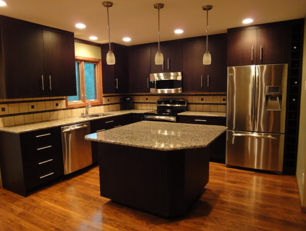 Kitchen Cabinets And Floor Combinations