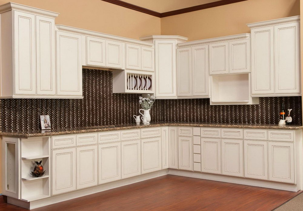 Kitchen Cabinets Antique White Glaze