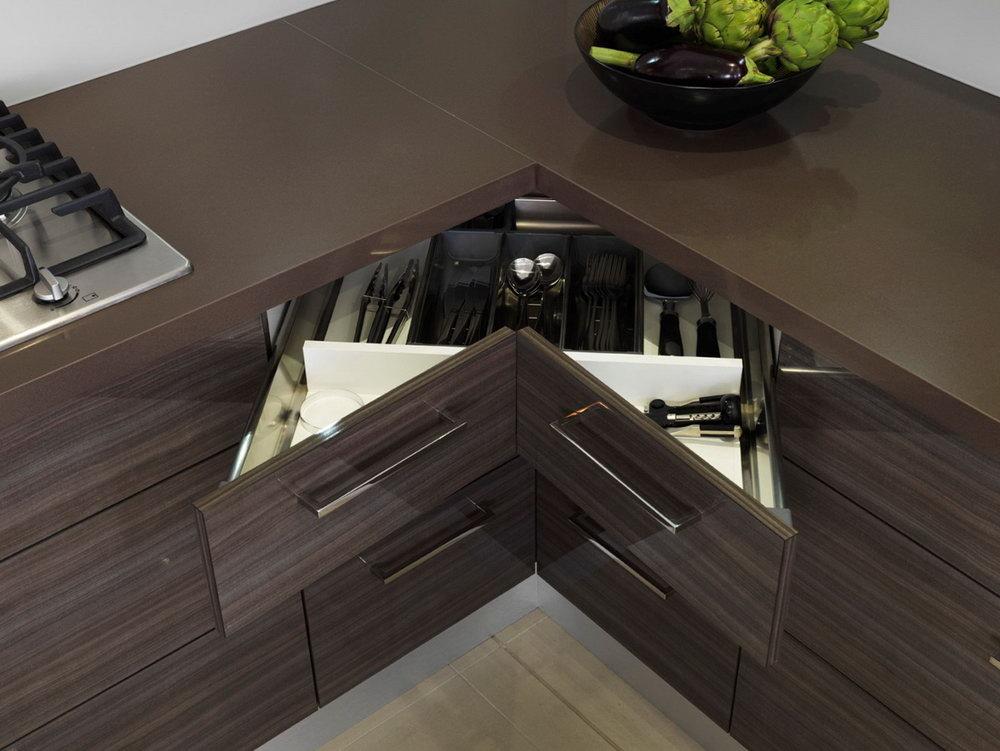 Kitchen Cabinets Corner Drawers