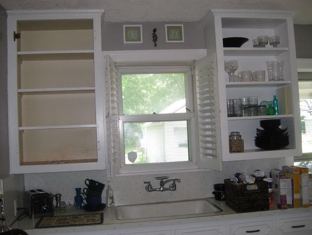 Kitchen Cabinets Doorless