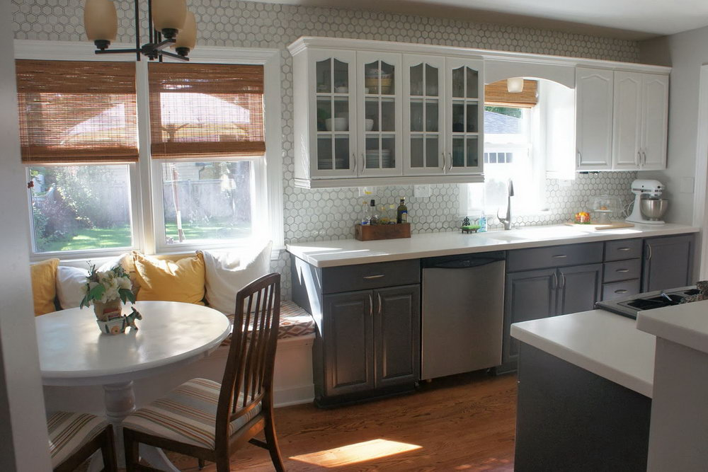 Kitchen Cabinets Gray And White