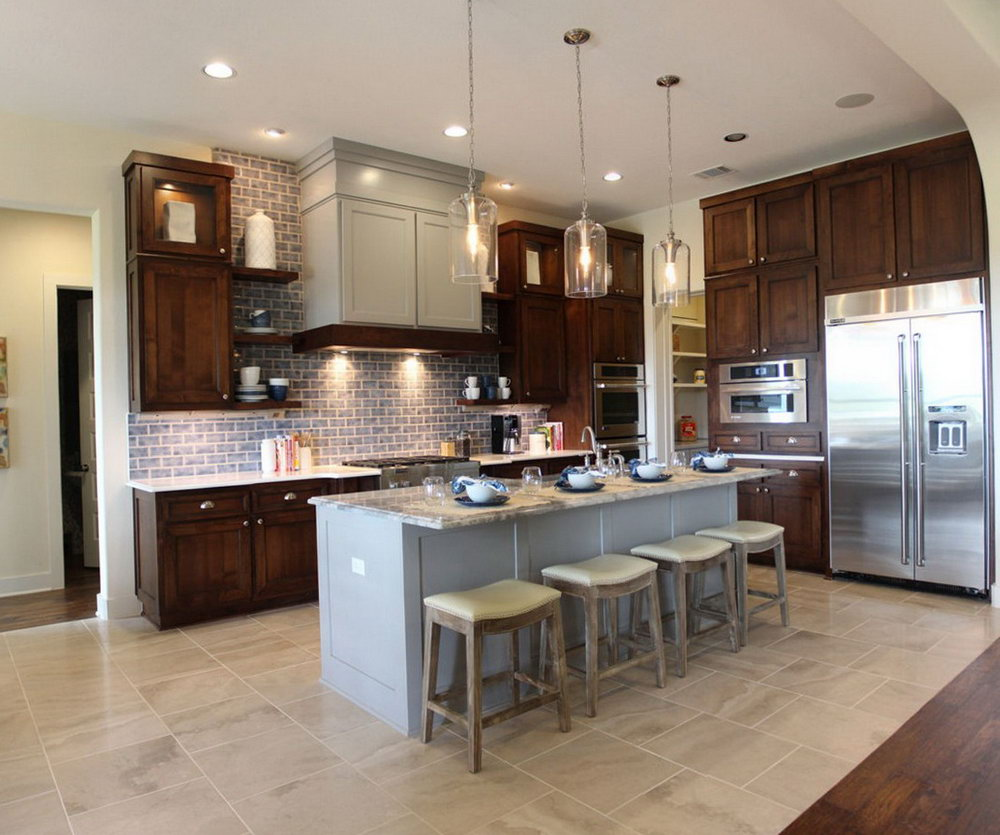 Kitchen Cabinets Grey And Brown