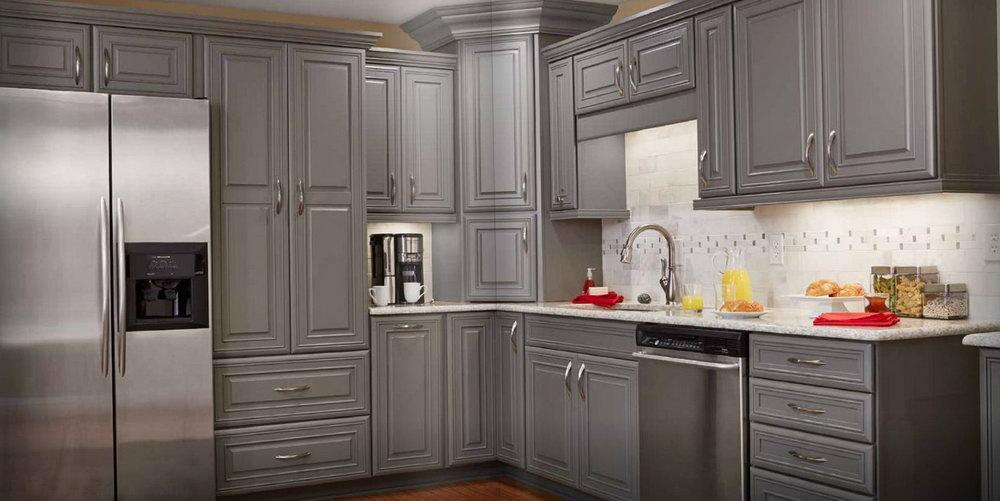 Kitchen Cabinets Grey Stain