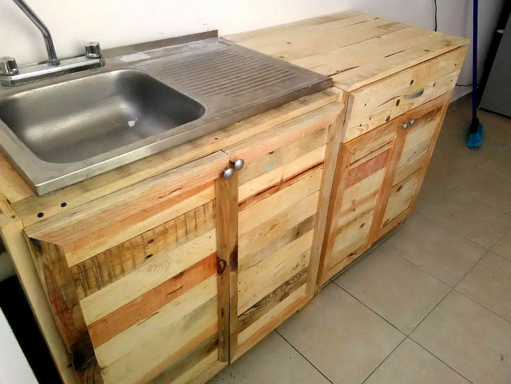 Kitchen Cabinets Made With Pallets