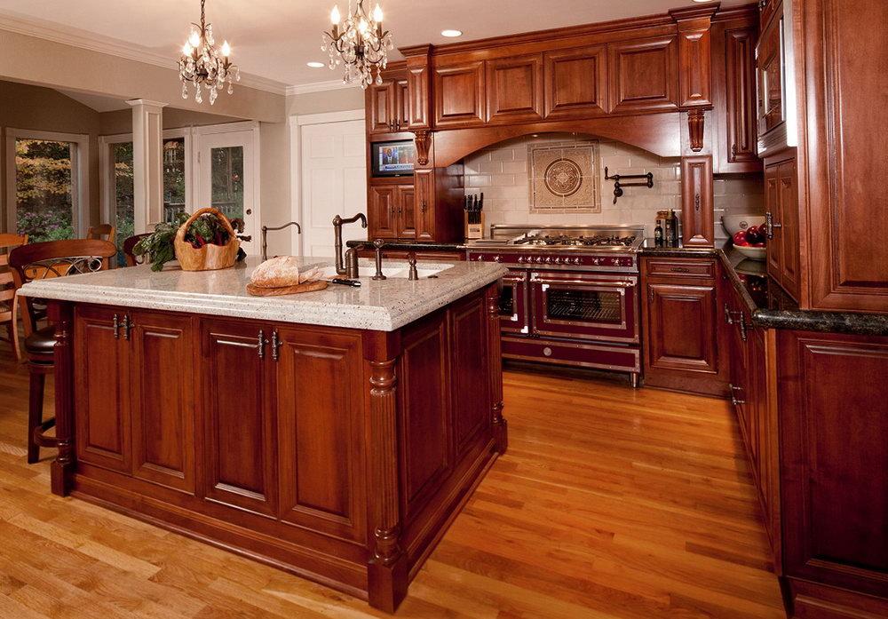 Kitchen Cabinets Maroon