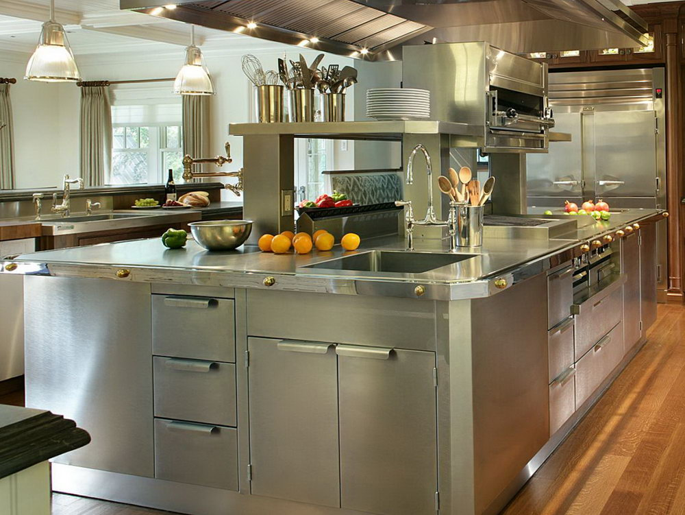 Kitchen Cabinets Stainless Steel