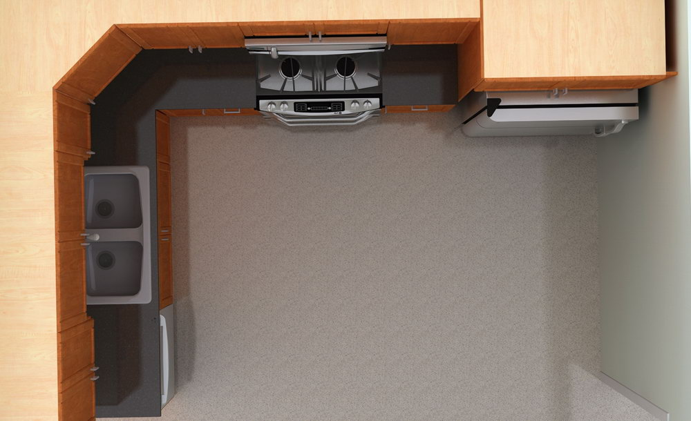 Kitchen Cabinets Top View