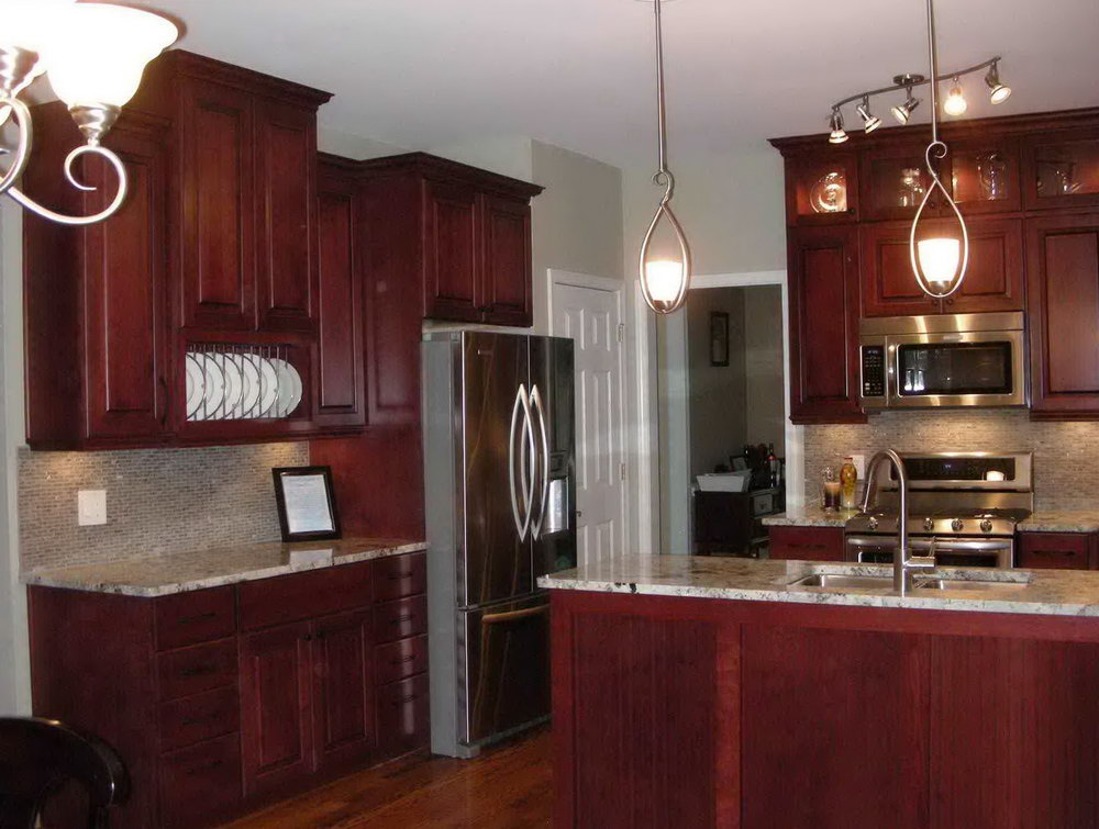 Kitchen Color Schemes With Cherry Wood Cabinets