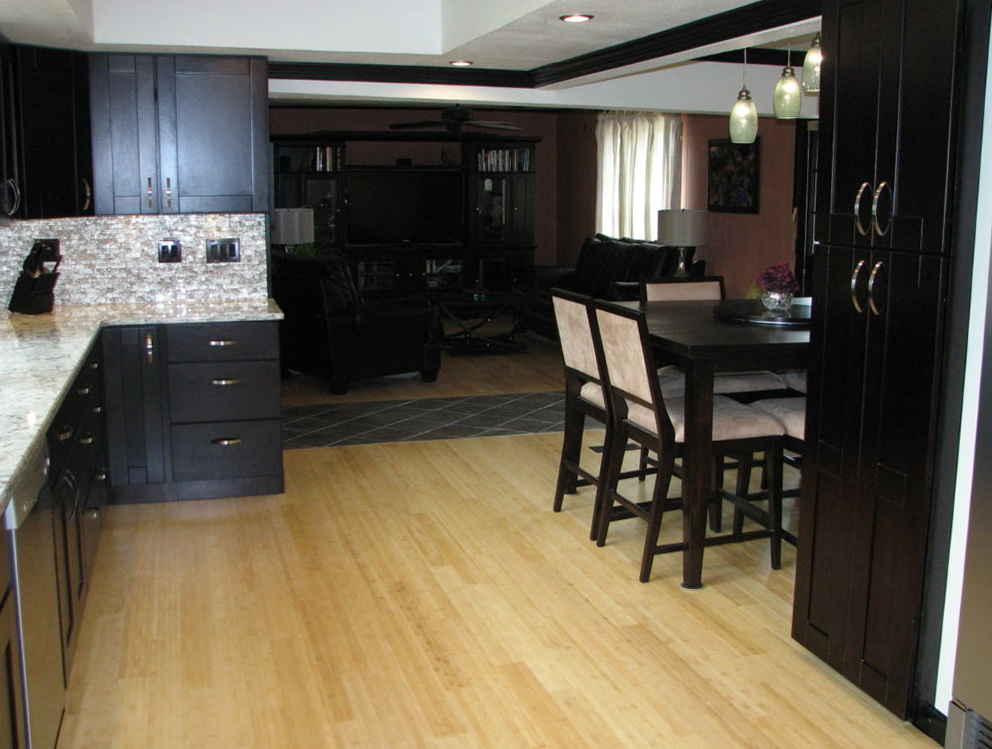 Kitchen Color Schemes With Dark Wood Cabinets
