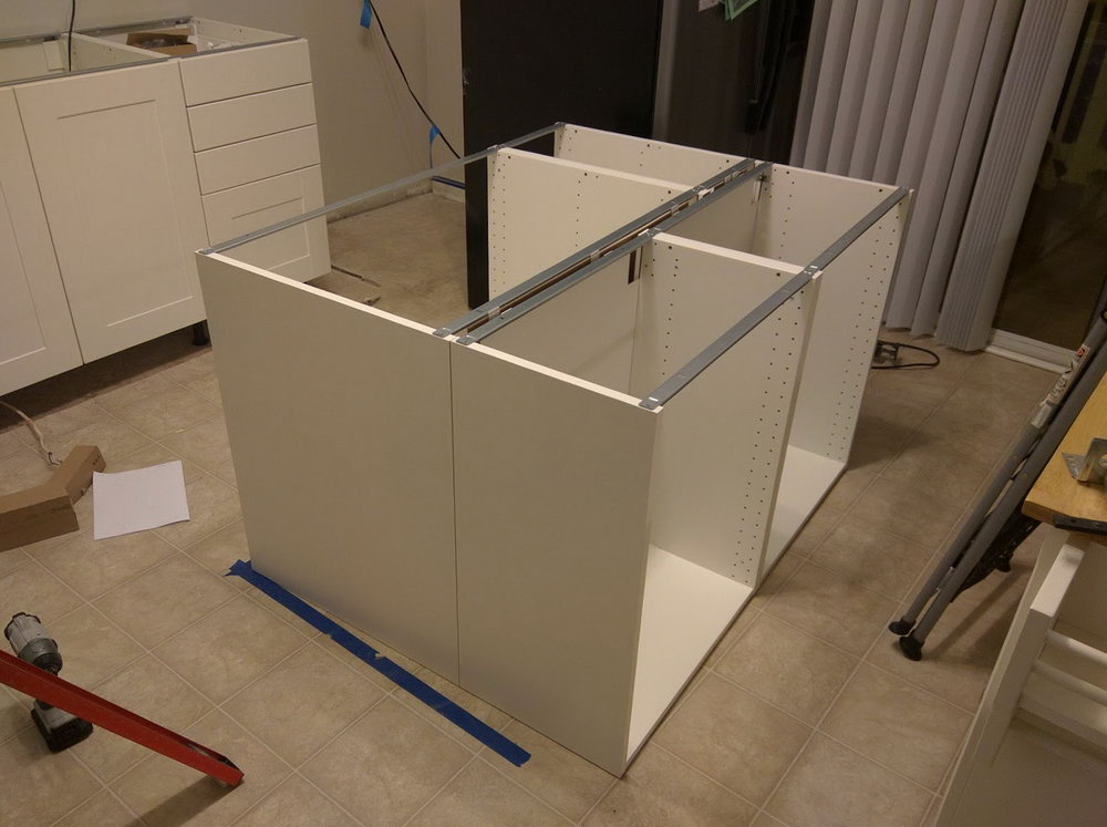 Kitchen Island Base Cabinets White