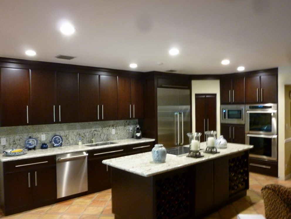 Kitchen Paint Color Ideas With Dark Brown Cabinets