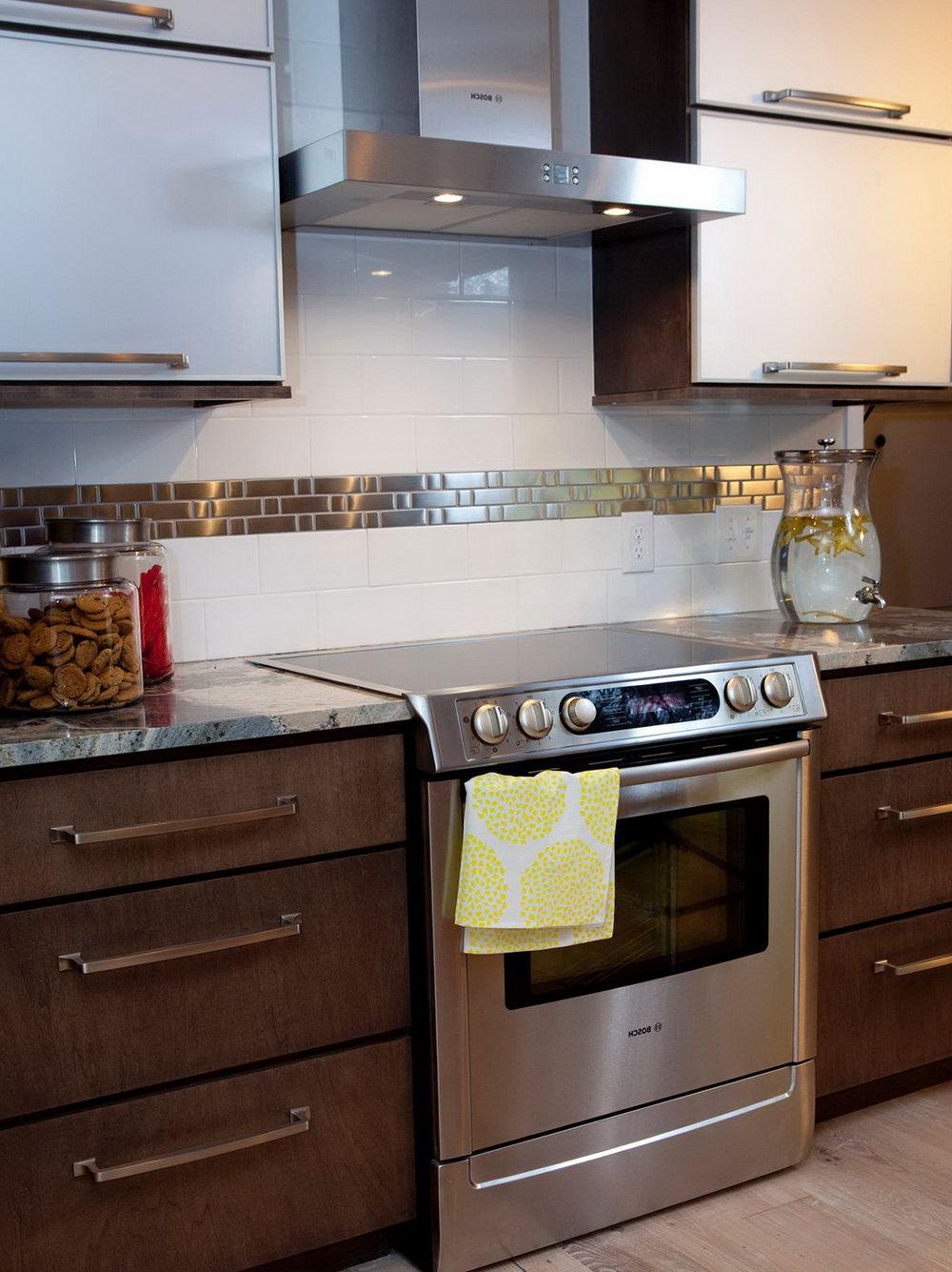 Kitchen Tile Floor Dark Cabinets