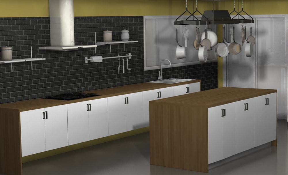 Kitchens Without Wall Cabinets