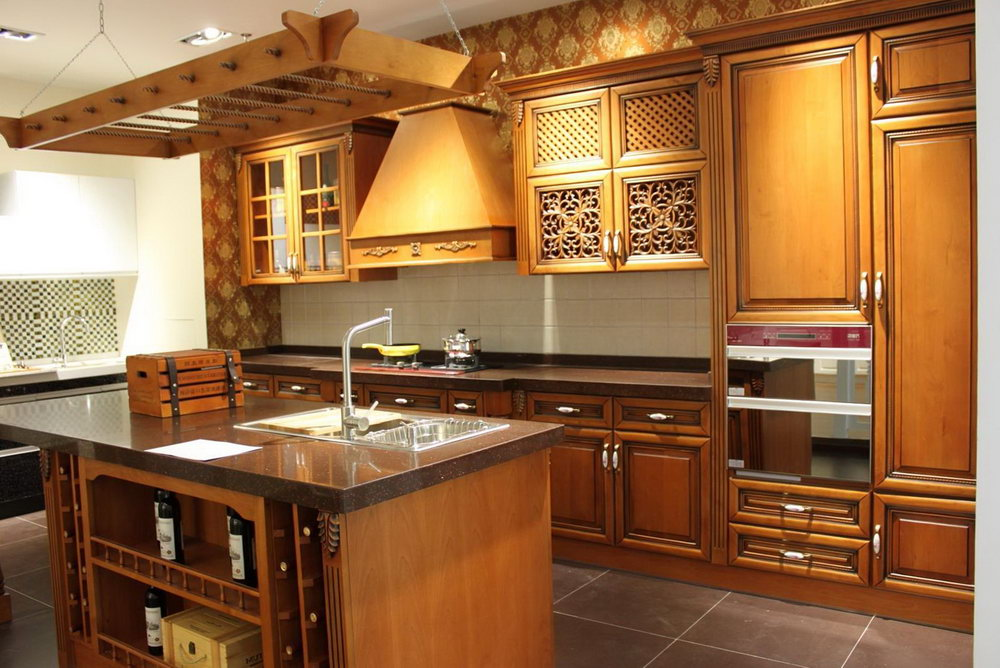 Light Brown Cabinet Kitchen
