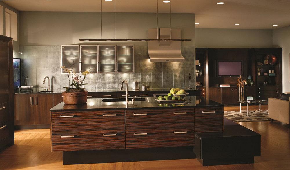 Macassar Ebony Kitchen Cabinets