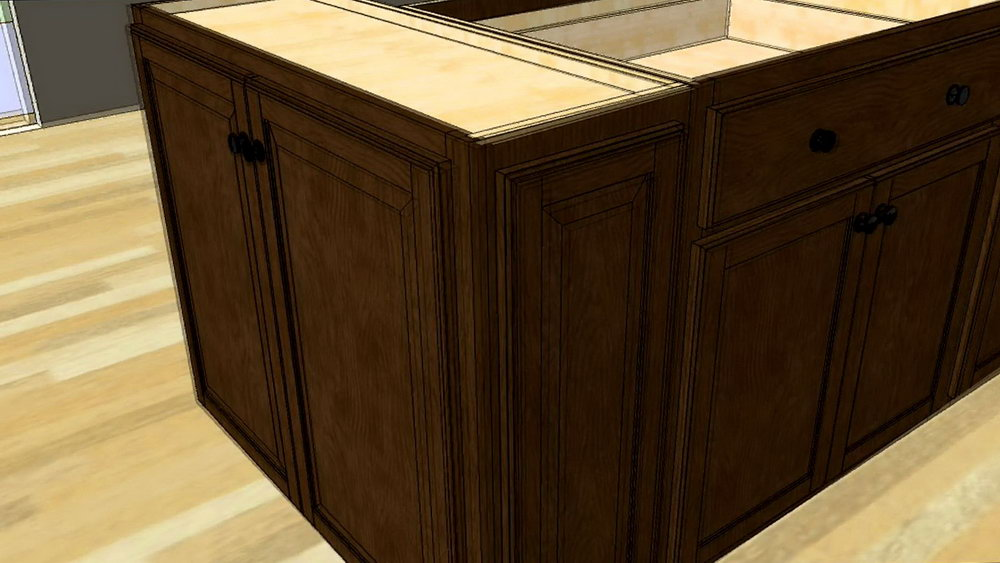 Making A Kitchen Island From Stock Cabinets