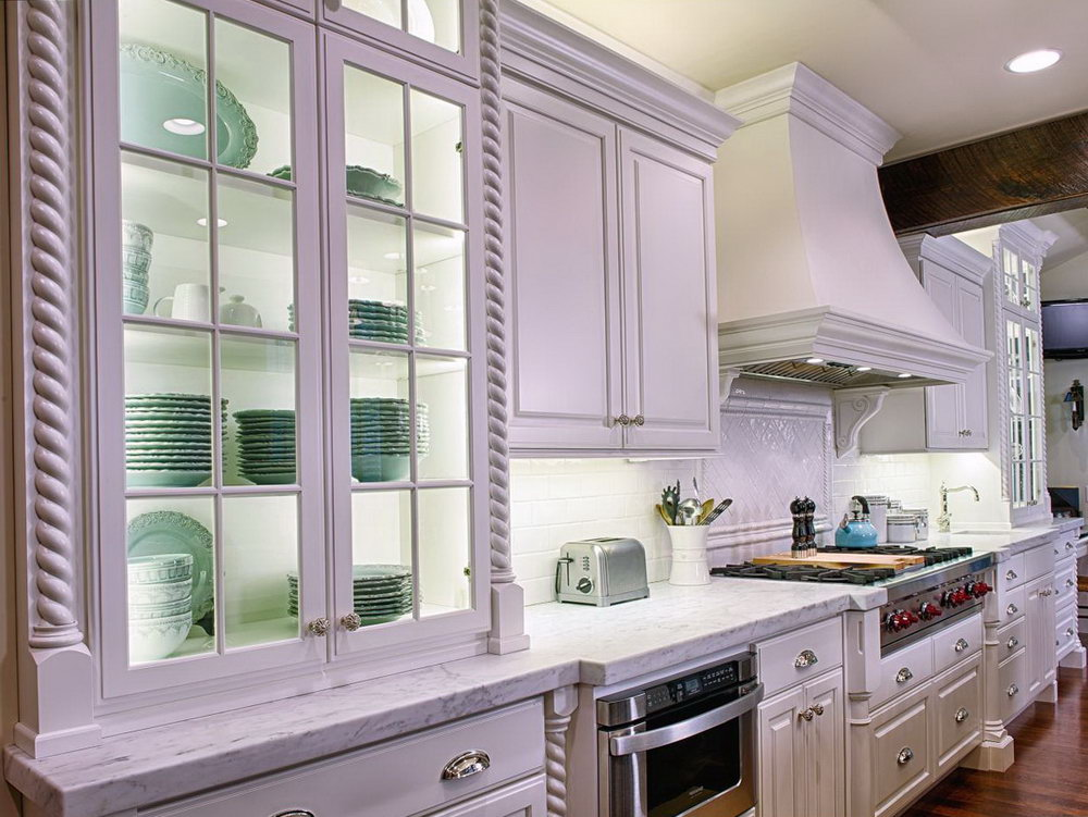 Mint Green Kitchen White Cabinets