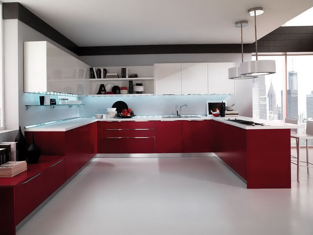 Modern High Gloss Kitchen Cabinets