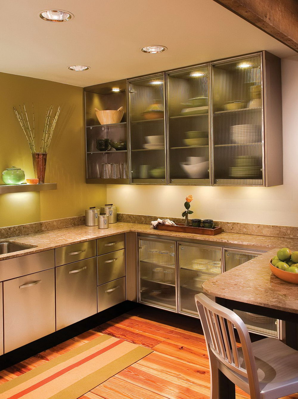 Modern Kitchen Overhead Cabinets