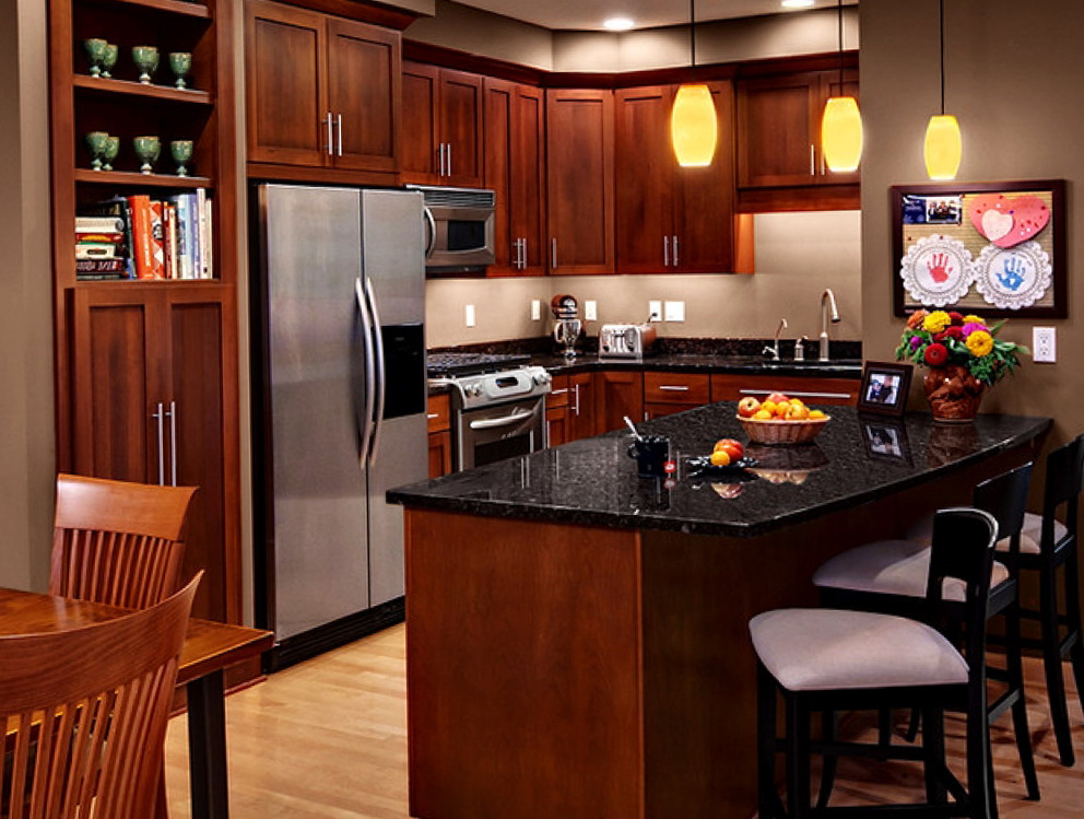 Modern Wood Grain Kitchen Cabinets