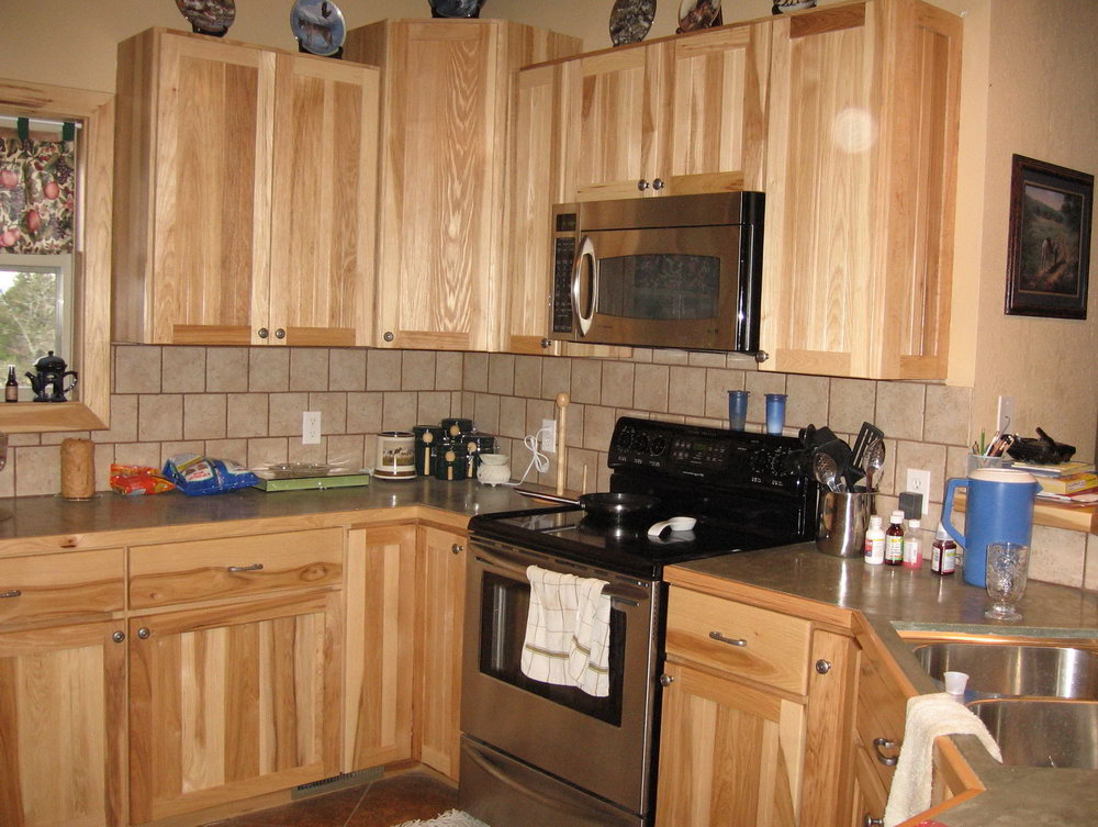 Natural Hickory Kitchen Cabinets Pictures