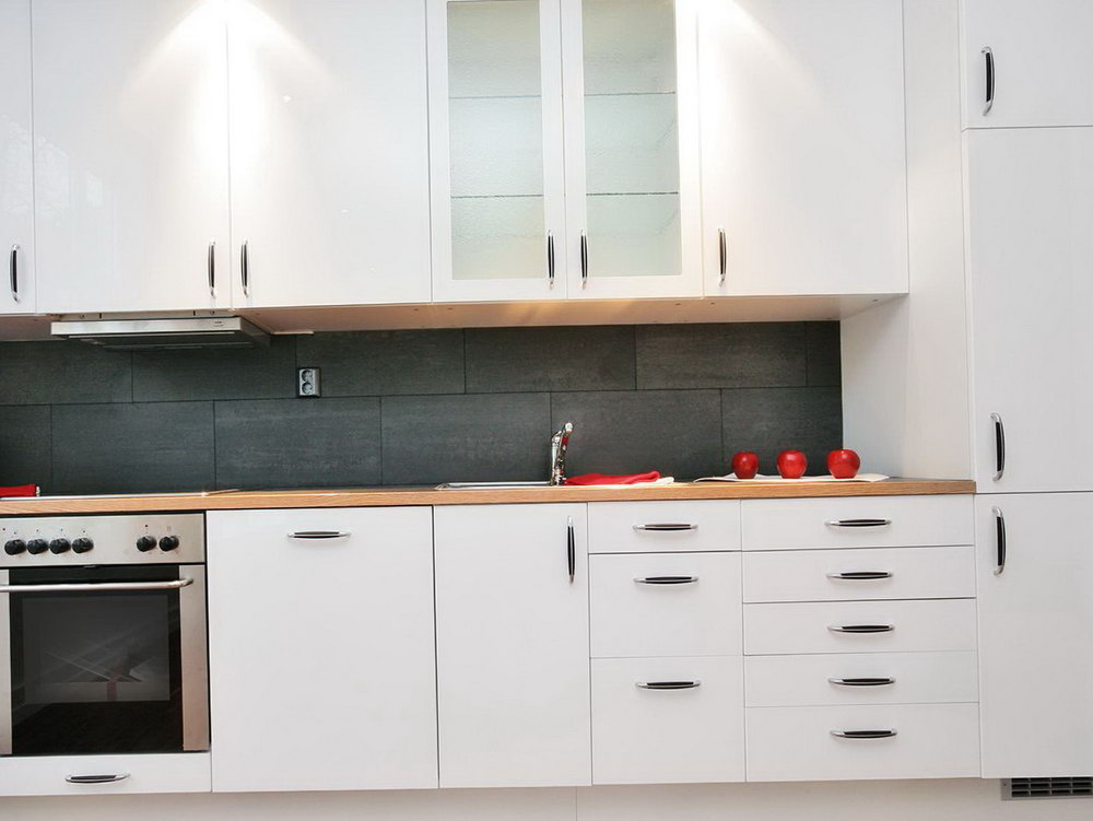 One Wall Kitchen Cabinets Design